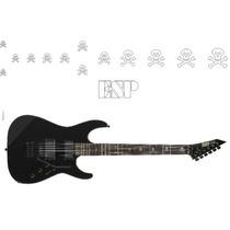 Viniles Stickers Guitarra Electrica Kirk Hammett Esp Skulls