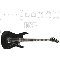 Viniles Stickers Guitarra Electrica Jeff Hanneman Slayer Esp