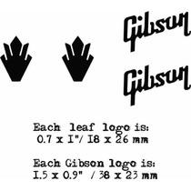 Set Logotipos Logos Guitarra Electrica Gibson Sg - Epiphone