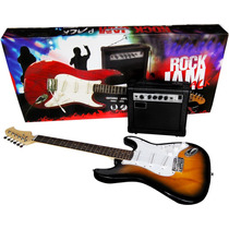 Guitarra Electrica+amplificador 8 +atril+plumillas+funda2015