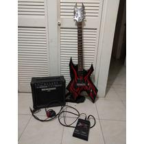 Guitarra Electrica Bc Rich Warlock Con Amp Behringer Y Pedal