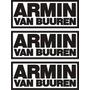 3 Stickers Vinil Autoadheribles Armin Van Buuren 19 X 8 Cm