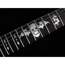 (*) Inlays Stickers Guitarra Synyster Gates Syn B. Silver