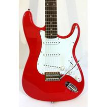 Guitarra Eléctrica Tipo Stratocaster Color Rojo O Blanco.