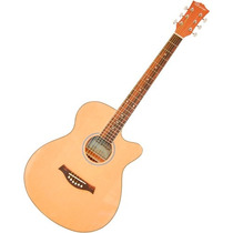 Guitarra Electroacústica Caraya Natural C. Estuche F550ceq/n