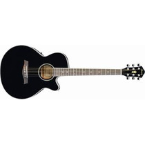 Guitarra Electroacústica Ibanez Aeg Color Negro Aeg8e-bk