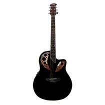 Guitarra Electroacústica Ovation Marca Rmc Color Negro