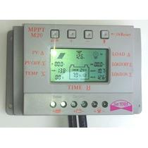 Controlador 20amp Mppt Regulador Panel Solar 12/24v Bateria