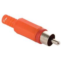 Adaptador Plug De Audio Rca, Color Rojo Para Soldar #19