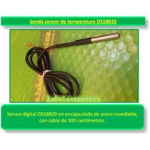 Sonda De Temperatura Ds18b20 Sumergible Ideal Raspberry Pi 2