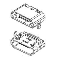 Conector Micro Usb Tipo B Hembra Smd Celulares Tabletas Oro