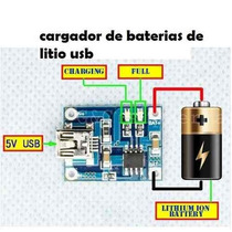 Cargador De Baterias De Litio Usb 5v 1a, Nuevo