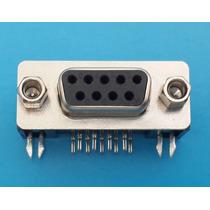 50 Pzs Conector Db9 Hembra Para Soldar Pcb.