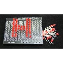 Matriz De Leds 5mm Shield Para Soldar Arduino Avr Pic