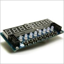 Display 8 X 7 Segmentos Con Controlador Y Botones Arduino