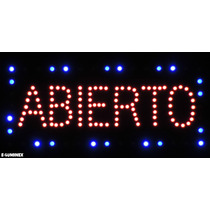 Anuncio Luminoso De Led Abierto Letreros Luminosos No Chino