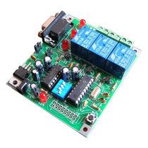 Tarjeta Desarrollo Microcontrolador Pic 16f88 3 Relevadores