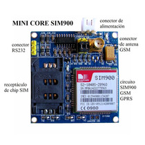 Kit Mini Core Sim900 Modem Gsm Gprs + Fuente Regulada Lm317