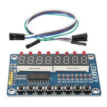 Display 8 X 7 Segmentos Tm1638 Con Botones Y Leds Arduino
