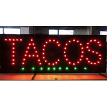 Anuncio Luminoso Led Tacos / Letrero Led