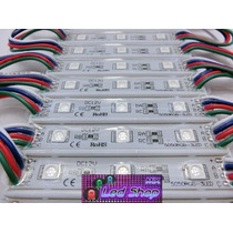 10x Modulos Led Rgb 5050 Ip65 Ultrabrillan Para Exterior