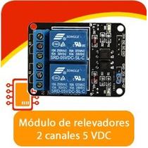 Módulo De Relevadores Relay Rele De 2 Canales, Arduino