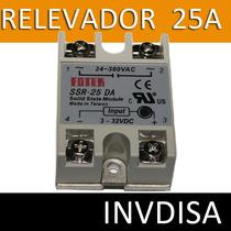 Relevador De Estado Sólido Ssr-25da 25a /250v 3-32vdc
