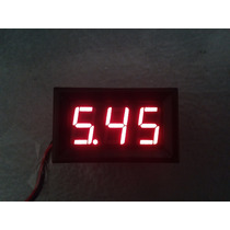 Voltimetro Display Digital, 3-30v Dc, Fuentes, Auto, Moto
