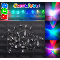 100 Led Rgb Camaleón Ultrabrillantes 5mm - Rápido/lento