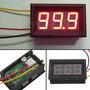 Panel Voltimetro Digital De4.8 Cm Para Medir 0-100v Rojo/azu