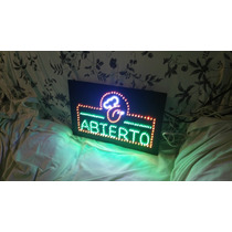 Letrero Led Abierto,anuncio Led Abierto Personalizado