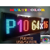 Led Display Anuncio Tecno Pantalla P10 Rgb Multicolor Prog.