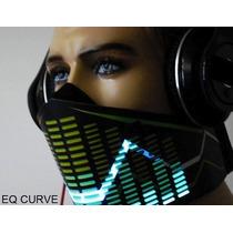 Mascara Led Audioritmica Luminosa Electronica Para Dj