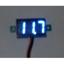 Voltimetro Digital Azul 0-100vcd, Carro, Moto, Refactronika