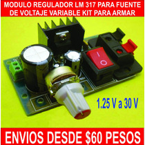 Modulo Regulador De Voltaje Lm317 Kit Fuente Variable