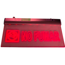 Letrero Led Luminoso No Fumar Con Luz Emergencia