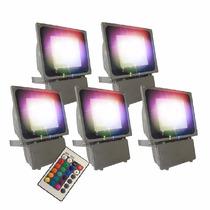 Reflector 75w Iluminación Led Rgb Multicolor Promoción 5pzas