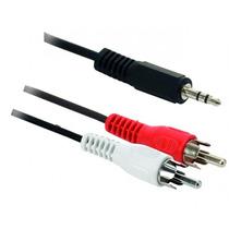 Adaptador De 2 Plugs Rca A Plug 3,5 Mm Estereo.