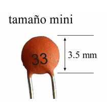 1000 Pzs Capacitor Cerámico 33pf 50v Tamaño Mini