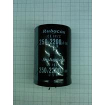Capacitor Electrolítico 2200 Uf / 250vdc Factura.