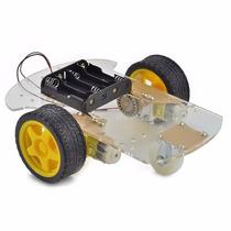 Chasis Robot 2 Motores Seguidor De Linea Sumo 4wd Arduino