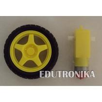 Motoreductor 3-6v Con Rueda Robot Arduino Edutronika