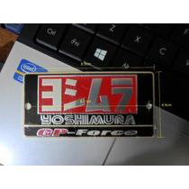Yoshimura Gp- Force Emblema Aluminio Escape Universal Fz16