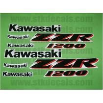 Kit De Stickers Calcomanias Para Moto Kawasaki Zzr 1200