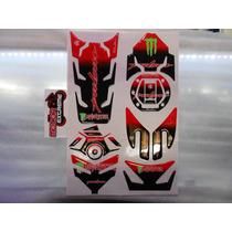 Kit Protector De Yugo Completo Bajaj Pulsar 200ns Rojo