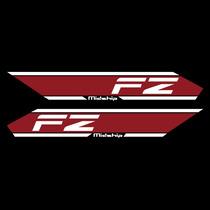 Sticker Motos - Calcomania - Vinil - Yamaha Fz Rojo Midship