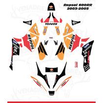 Calcomanias Stickers Honda Cbr 600rr 2003-2006