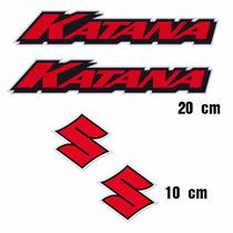 Sticker - Calcomania - Vinil - S Susuki Cromo Y Katana Cromo