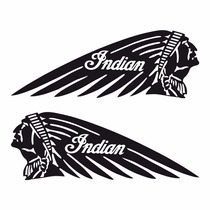 Sticker - Calcomania - Vinil - Logo Indian Motorcycle Indio