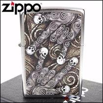 Encendedor Zippo Skull Scroll Hand Dia De Muertos Hallowen
